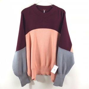Free People Easy Street Colorblock Sweater